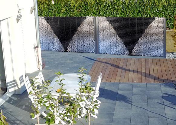 LE GABION brise-vue-terrasse en gabion